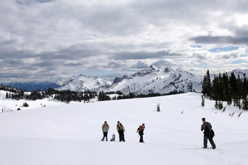 Snowshoeing at Paradise, Mt. Rainier