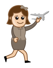 Toy Plane Vector Cartoon