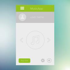 Flat Mobile UI Design. Vector eps 10.