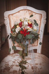 Fall bridal bouquet of flowers