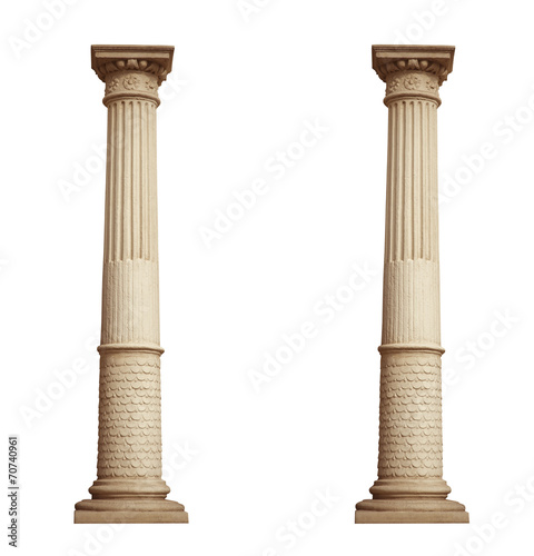 Zdjęcia na płótnie, fototapety, obrazy : column isolated on white background