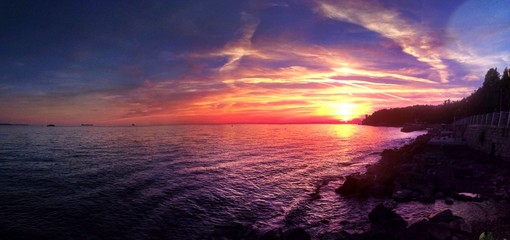 terrific sunset at Trieste - Italy