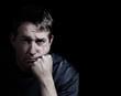 Man showing depression