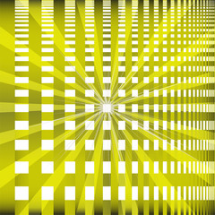 Ray checkerboard theme green background