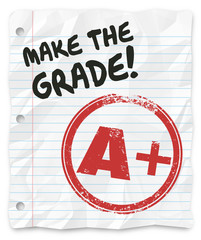 Make the Grade A Plus Report Card Prove Yourself