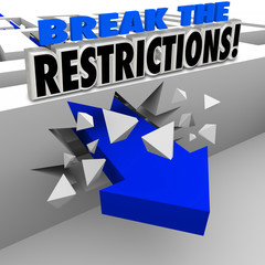 Break the Restrictions Arrow Crashing Maze Walls