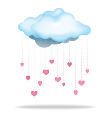 Cloud Raining Down Love