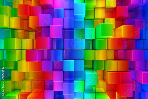 Colorful blocks abstract background © Leigh Prather