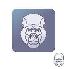 Gorilla head icon