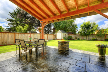 Beautiful walkout patio area