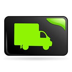 livraison sur bouton web rectangle vert
