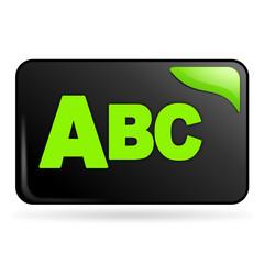 tri par ordre alphabétique sur bouton web rectangle vert
