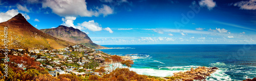 Canvas Zuid Afrika Cape Town city panoramic image