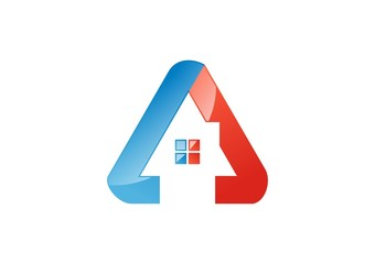 house,real estate,logo,build,triangle,company,corporate,business