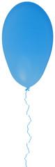 ballon bleu avec ficelle