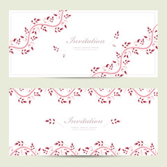 romantic floral invitation cards for your design
