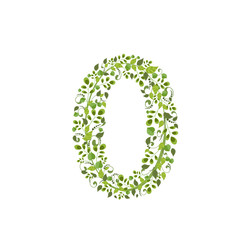 Spring green leaves. eco number 0