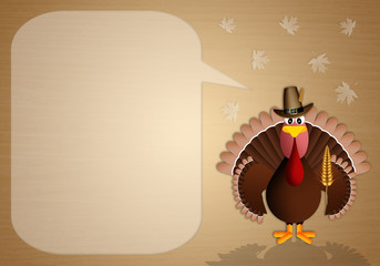 Turkey with cob background