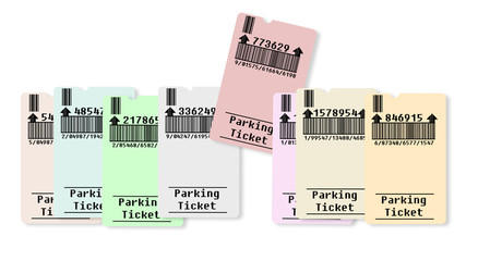 Ticket for parking area