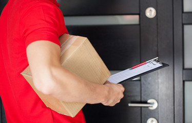 Delivery man at front door