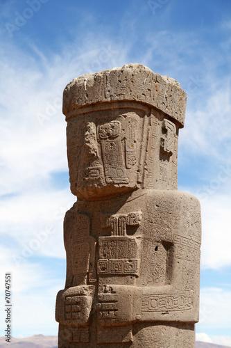 Papiers peints Ruine Stone Man in Tiwanaku (Tiahuanaco) Bolivia