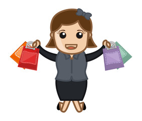 Shopping Offers - Cartoon Vector
