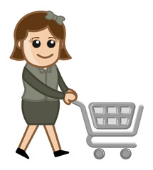 Shopping Concept - Cartoon Vector