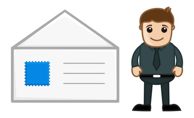 Mail Envelope - Cartoon Vector
