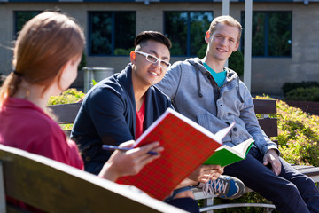 Diverse student learning together