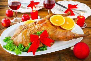 Weihnachten - Ente und Rotwein