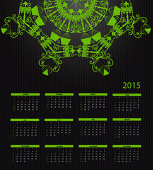 New Year Calendar 2015. Vector Illustration