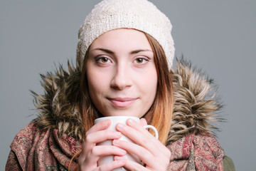 Young Woman Holding Mug