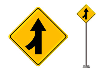Traffic sign Lanes Merging Left