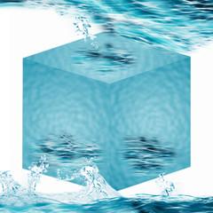 Würfel - 3D - Wasser