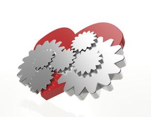 Clockwork Gears Heart