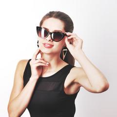 Studio fashion portrait of a woman.