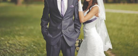 Wedding  couple together.