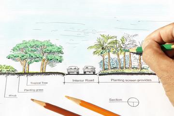 Landscape architect design plan