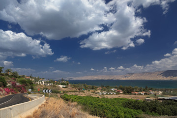 Sea of Galilee. lake kinneret . Israel