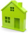Symbol grünes Haus