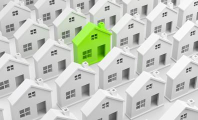 Haus grün makiert