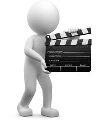 3d Männchen mit Filmklappe