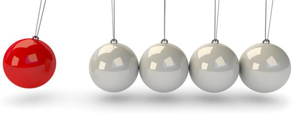 Pendulum sechs Kugel