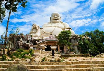 Amazing big buddha statue on Cam mountain Vietnam