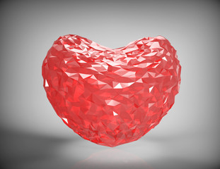 diamond heart shape