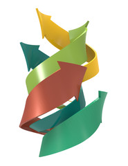 Spiral arrows concept background