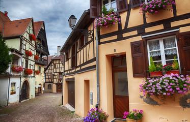 small street in village Eguisheim