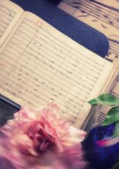 antique music notes
