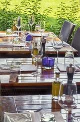 summer restaurant tables