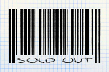 product bar code with sold out promotion